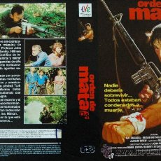 Cine: CARATULA ORIGINAL DE VIDEO TAMAÑO GRANDE - ORDEN DE MATAR - ACCION. Lote 26278737