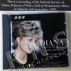 Cine: CD FUNERAL PRINCESA DIANA DE GALES 1997 BBC DOCUMENTAL - HISTORIA MÚSICA REINO UNIDO MUERTE LADY DI. Lote 26670265
