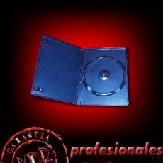 Cine: 10 ESTUCHES / CAJAS PARA DVD COLOR NEGRO -NUEVOS-. Lote 43124490