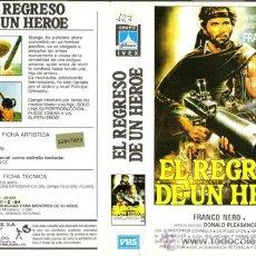 Cine: CARATULA VHS - EL REGRESO DE UN HEROE - PEDIDO MINIMO 6€. Lote 31592226