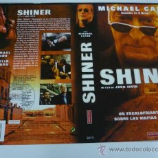Cine: SHINER - CARATULA VIDEO GRANDE - MICHAEL CAINE. Lote 31718920