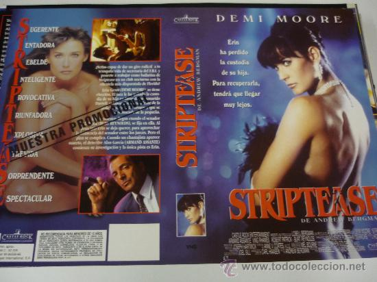 STRIPTEASE - CARATULA VIDEO GRANDE - DEMI MOORE - ARMAND ASSANTE (Cine - Varios)