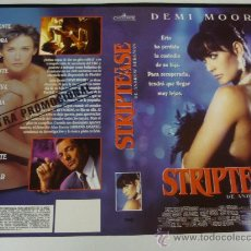 Cine: STRIPTEASE - CARATULA VIDEO GRANDE - DEMI MOORE - ARMAND ASSANTE. Lote 31725406