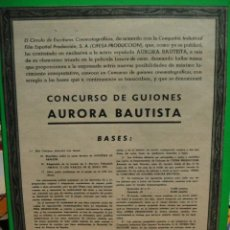 Cine: CONCURSO DE GUIONES AURORA BAUTISTA 1949. Lote 32099007