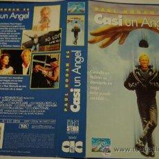 Cine: CASI UN ANGEL - CARATULA DE VIDEO - PAUL HOGAN - CHARLTON HESTON. Lote 32416086