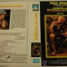 Cine: SENDEROS DE FUEGO - CARATULA DE VIDEO TAMAÑO GRANDE - PAUL HOGAN. Lote 32477032
