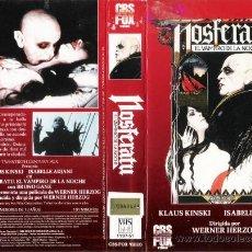 Cine: CARATULA VHS - NOSFERATU - PEDIDO MINIMO 6€. Lote 33959075