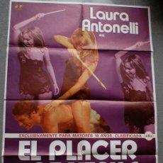 Cine: EL PLACER DE VENUS LAURA ANTONELLI POSTER ORIGINAL 70X100 ESTRENO (1978) . Lote 35403073