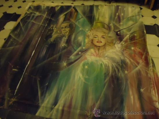 Cine: coleccionistas de cine ,Marilyn Monroe, Humphrey Bogart, gigantesco oleo años 50/60 , 205 x 181 cm - Foto 24 - 36996215