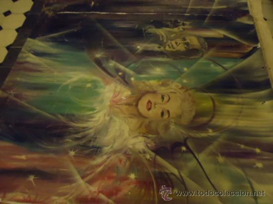 Cine: coleccionistas de cine ,Marilyn Monroe, Humphrey Bogart, gigantesco oleo años 50/60 , 205 x 181 cm - Foto 23 - 36996215