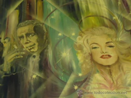 Cine: coleccionistas de cine ,Marilyn Monroe, Humphrey Bogart, gigantesco oleo años 50/60 , 205 x 181 cm - Foto 16 - 36996215