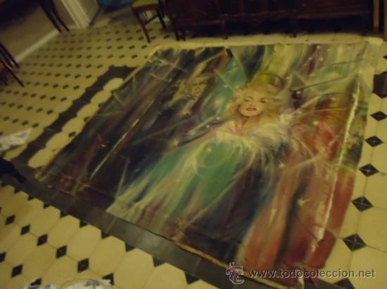 Cine: coleccionistas de cine ,Marilyn Monroe, Humphrey Bogart, gigantesco oleo años 50/60 , 205 x 181 cm - Foto 14 - 36996215