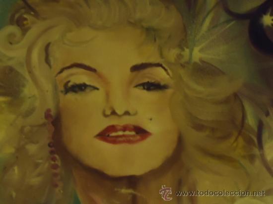 Cine: coleccionistas de cine ,Marilyn Monroe, Humphrey Bogart, gigantesco oleo años 50/60 , 205 x 181 cm - Foto 27 - 36996215