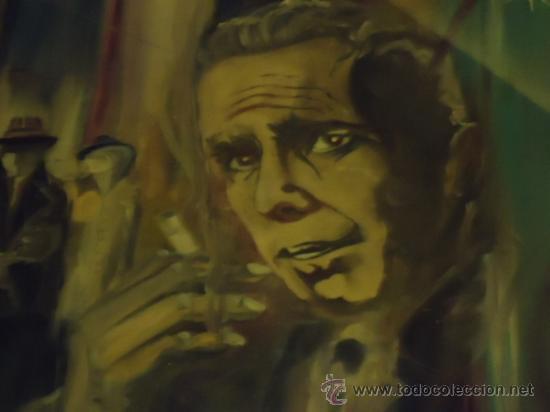 Cine: coleccionistas de cine ,Marilyn Monroe, Humphrey Bogart, gigantesco oleo años 50/60 , 205 x 181 cm - Foto 28 - 36996215