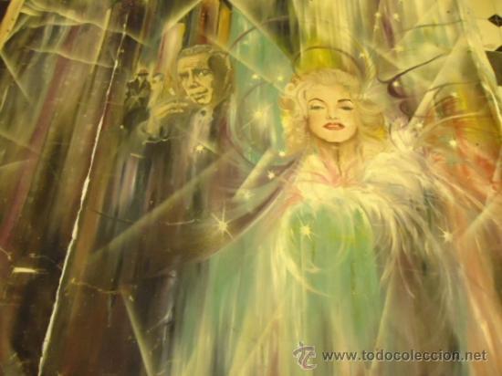 Cine: coleccionistas de cine ,Marilyn Monroe, Humphrey Bogart, gigantesco oleo años 50/60 , 205 x 181 cm - Foto 5 - 36996215