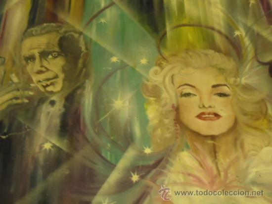 Cine: coleccionistas de cine ,Marilyn Monroe, Humphrey Bogart, gigantesco oleo años 50/60 , 205 x 181 cm - Foto 3 - 36996215