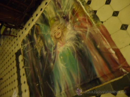 Cine: coleccionistas de cine ,Marilyn Monroe, Humphrey Bogart, gigantesco oleo años 50/60 , 205 x 181 cm - Foto 2 - 36996215