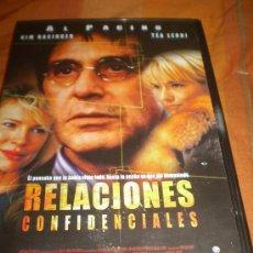 Cine: PELICULA DVD.-RELACIONES CONFIDENCIALES.CON ALPACINO-KIM BASINGER Y TEA LEONI,ENVIO GRATIS. Lote 37449466