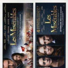 Cinema: LOS MISERABLES, CON RUSSEL CROWE. MARCAPAGINAS.. Lote 201168030