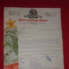 Cine: CARTA COMERCIAL METRO.GOLDWYN-MAYER 1953 IVANHOE. Lote 37785171