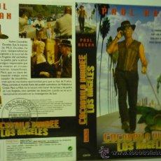 Cine: CARATULA VIDEO VHS COCODRILO DUNDEE EN LOS ANGELES--PAUL HOGAN. Lote 38222313