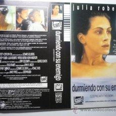 Cine: CARATULA VIDEO VHS DURMIENDO SON SU ENEMIGO . -JULIA ROBERTS. Lote 38604556