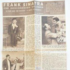 Cine: ARTICULO DE REVISTA HOLA (1960) FRANK SINATRA, ESE DESCONOCIDO CELEBRE. Lote 38605999
