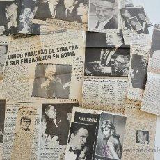 Cine: 16 RECORTES DE PRENSA ANTIGUOS DE FRANK SINATRA . Lote 38606011