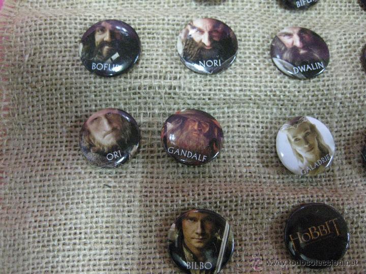 Cine: Película el hobbit coleccion chapas pins de los personajes -unica ocasion - - Foto 3 - 40008367