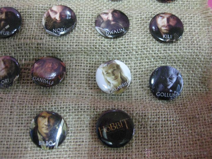 Cine: Película el hobbit coleccion chapas pins de los personajes -unica ocasion - - Foto 4 - 40008367