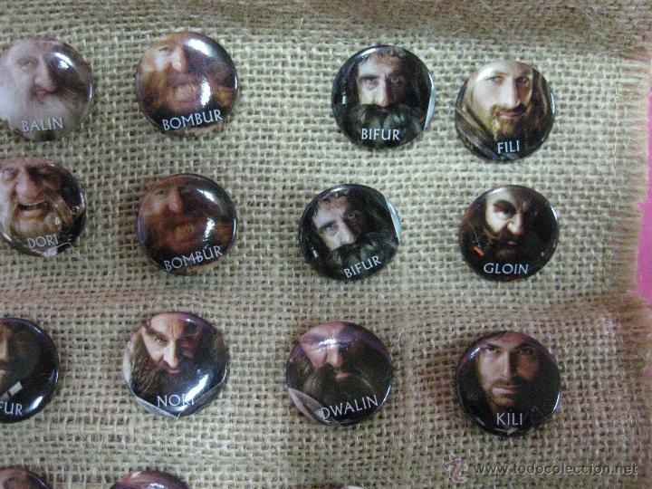 Cine: Película el hobbit coleccion chapas pins de los personajes -unica ocasion - - Foto 5 - 40008367