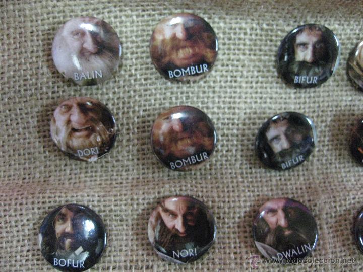 Cine: Película el hobbit coleccion chapas pins de los personajes -unica ocasion - - Foto 6 - 40008367