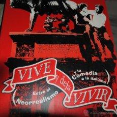 Cine: VIVE Y DEJA VIVIR, ENTRE EL NEORREALISMO Y LA COMEDIA A LA ITALIANA, OVIEDO, TEATRO CAMPOAMOR 1999. Lote 40061711