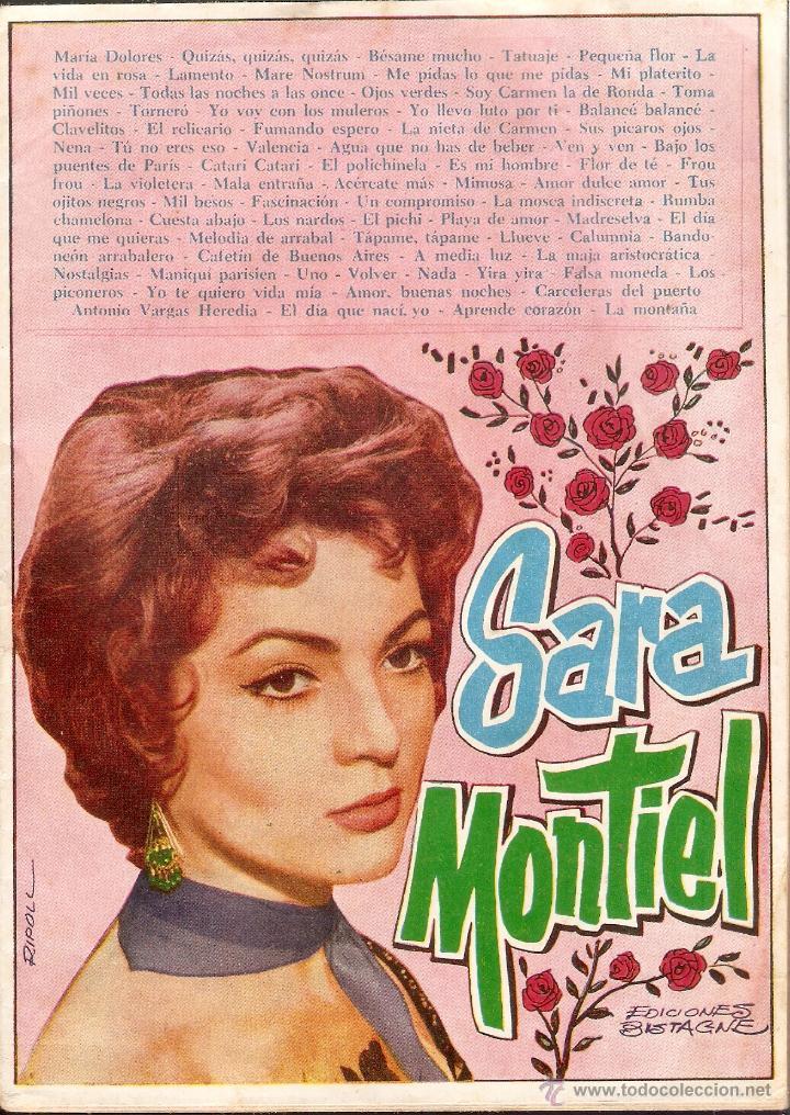 CANCIONERO SARA MONTIEL - Nº 94 - EDICIONES BISTAGNE - BARCELONA - 1964 (Cine - Varios)