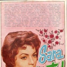 Cine: CANCIONERO SARA MONTIEL - Nº 94 - EDICIONES BISTAGNE - BARCELONA - 1964. Lote 40450606