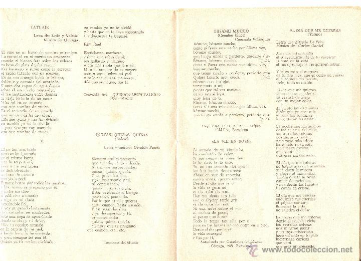 Cine: CANCIONERO SARA MONTIEL - Nº 94 - EDICIONES BISTAGNE - BARCELONA - 1964 - Foto 2 - 40450606