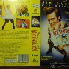 Cine: CARATULA VIDEO VHS ACE AVENTURA .- JIM CARREY. Lote 41268750
