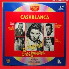 Cine: DISCO LASER DISC VINTAGE PELICULA - CASABLANCA - DIFICIL DE ENCONTRAR. Lote 41300596