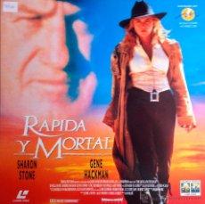 Cine: LASER DISC-RÁPIDA Y MORTAL-WESTERN 1995-SHARON STONE,RUSSELL CROWE,GENE HACKMAN,LEONARDO DI CAPRIO. Lote 41376680