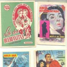 Cine: 30 FOLLETOS DE MANO - EL REVERSO EN BLANCO. Lote 41404196