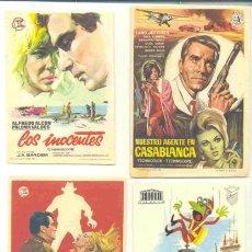 Cine: 30 FOLLETOS DE MANO - EL REVERSO EN BLANCO. Lote 41404664