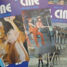 Cine: LOTE 50 PORTADAS ENCICLOPEDIA DEL 7 ARTE EL CINE BURU LAN AÑO 1973. Lote 48308607