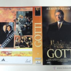 Cine: CARATULA VIDEO TAMAÑO GRANDE - GOTTI - ARMAND ASSANTE ANTHONY QUINN. Lote 42295296