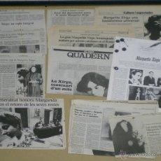 Cine: UO67 MARGARITA XIRGU COLECCION ORIGINAL ARTICULOS Y REPORTAJES EN REVISTAS Y PERIODICOS. Lote 43450308