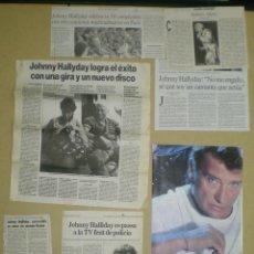 Cine: UO57 JOHNNY HALLYDAY COLECCION ARTICULOS Y REPORTAJES EN REVISTAS Y PERIODICOS. Lote 43450800