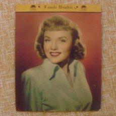 Cine: UNA DIXIE ICE CREAM PREMIUM DE WANDA HENDRIX, AÑO 1949, PARAMOUNT PICTURES, MIDE 25,5X20,5 CM.. Lote 43525938