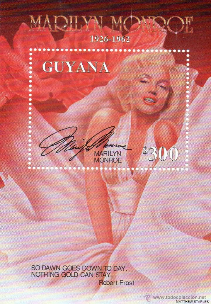 GUYANA - CINE- MARILYN MONROE - AÑO 1995 - Nº MICHEL BLOC 490 NUEVO (Cine - Varios)