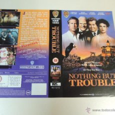 Cine: NOTHING BUT TROUBLE - CARATULA ORIGINAL VIDEO TAMAÑO GRANDE - CHEVY CHASE DAN AYKROYD DEMI MOORE. Lote 44342802