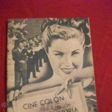 Cine: PROGRAMA DE CINE DE FIESTAS DE OLOT 1948 17 PAG PELICULAS - CONTARAPORTADA PROPAGANDA RADIO. Lote 44639602