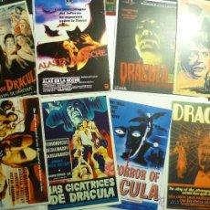 Cine: LOTE REPRODUCCIONES PAPEL CARTELES ESPAÑOLES Y EXTRANJEROS PELICULAS DRACULA. Lote 44645602